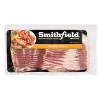 Smithfield Bacon Naturally Hickory Smoked Hometown Original Sliced