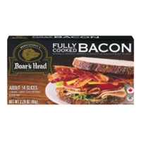 Boar's Head Bacon Fully Cooked 2 Pouches - 7 Slices Each