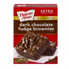 Duncan Hines Brownie Mix Dark Chocolate Fudge Family Size