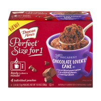Duncan Hines Perfect Size for 1 Chocolate Lover's Cake Mix - 4 ct