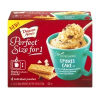 Duncan Hines Perfect Size for 1 S'mores Cake Mix - 4 ct