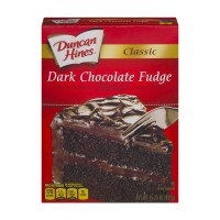 Duncan Hines Classic Cake Mix Dark Chocolate Fudge