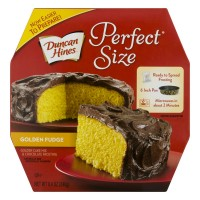 Duncan Hines Perfect Size Golden Cake & Frosting Mix Chocolate Fudge