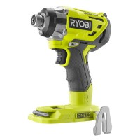 Ryobi 18-Volt ONE+ Cordless Brushless 3-Speed 1/4 in. Hex Impact Driver (Tool Only) with Belt Clip