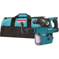 Makita 18-Volt LXT Li-Ion 1 in. Brushless Cordless SDS-Plus Concrete/Masonry Rotary Hammer (Tool-Only) W/ built-on HEPA Vacuum