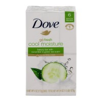 Dove Go Fresh Cool Moisture Beauty Bar Cucumber & Green Tea Scent - 6 ct