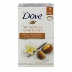 Dove Purely Pampering Shea Butter Beauty Bar Warm Vanilla - 6 ct