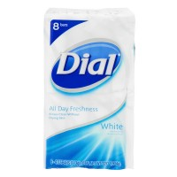 Dial All Day Freshness Antibacterial Bar Soap White - 8 ct
