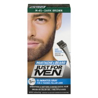 Just For Men Mustache & Beard Brush-In Color Gel Dark Brown M-45