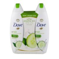 Dove Go Fresh Body Wash Cool Moisture Cucumber & Green Tea Scent - 2 ct