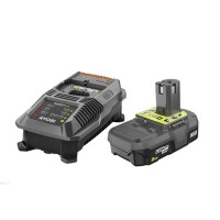 Ryobi 18-Volt ONE+ Lithium-Ion 2.0 Ah Battery and Dual Chemistry IntelliPort Charger Upgrade Kit