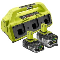 Ryobi 18-Volt ONE+ 6-Port Dual Chemistry Supercharger Kit (1) 4.0 Ah LITHIUM+ and (1) 1.5 Ah Compact LITHIUM+ Batteries