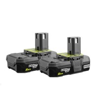 Ryobi 18-Volt ONE+ 2.0 Ah Lithium-Ion Compact Battery (2-Pack)