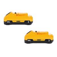 DEWALT 20-Volt MAX Lithium-Ion Compact Battery Pack 3.0Ah (2-Pack)