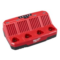 Milwaukee M12 12-Volt Lithium-Ion 4-Port Sequential Battery Charger