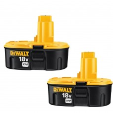 DEWALT 18-Volt xRP NiCd Extended Runtime Pack 2.4 Ah Battery (2-Pack)