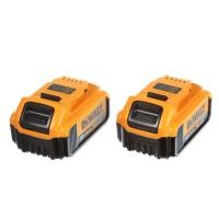 DEWALT 20-Volt MAX XR Lithium-Ion Premium Battery Pack 4.0Ah (2-Pack)