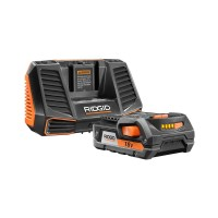 RIDGID 18-Volt Lithium-Ion 2.0 Ah Battery Pack and Charger Kit