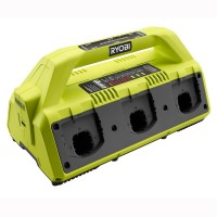 Ryobi 18-Volt ONE+ 6-Port Dual Chemistry IntelliPort Super Charger with USB Port