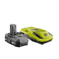 Ryobi 18-Volt ONE+ Lithium-Ion 1.3 Ah Battery Pack and Dual Chemistry IntelliPort Charger Upgrade Kit