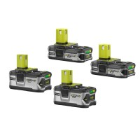 Ryobi 18-Volt ONE+ Lithium-Ion LITHIUM+ High Capacity Battery Kit with (2) 4.0 Ah Batteries and (2) 1.5 Ah Batteries