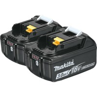 Makita 18-Volt LXT Lithium-Ion High Capacity Battery Pack 3.0Ah with Fuel Gauge (2-Pack)