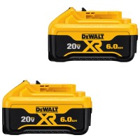 DEWALT 20-Volt MAX XR Lithium-Ion Premium Battery Pack 6.0Ah (2-Pack)