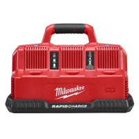 Milwaukee M12 and M18 12-Volt/18-Volt Lithium-Ion Multi-Voltage 6-Port Sequential Rapid Battery Charger (3 M12 and 3 M18 Ports)