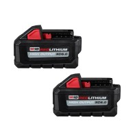 Milwaukee M18 18-Volt Lithium-Ion High Output Battery Pack 6.0Ah (2-Pack)