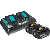 Makita 18-Volt 5.0Ah LXT Lithium-Ion Battery and Dual Port Charger Starter Pack