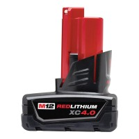Milwaukee M12 12-Volt Lithium-Ion XC Extended Capacity Battery Pack 4.0Ah