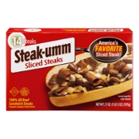 Steak-Umm Beef Sandwich Steaks Sliced - 14 ct Frozen