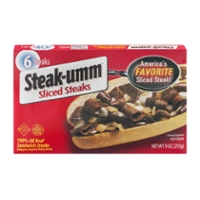 Steak-Umm Beef Sandwich Steaks Sliced - 6 ct Frozen