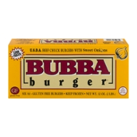 Bubba Burger Choice Beef Chuck with Sweet Onions 1/3 lb ea - 6 ct Frozen