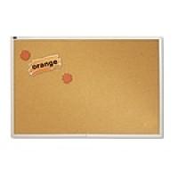 Quartet® Natural Cork Bulletin Board, Silver Aluminum Frame, 6'W x 4'H