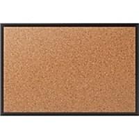 Staples Standard Cork Bulletin Board, Black Aluminum Frame, 3'W x 2'H