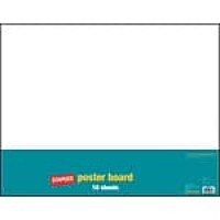 "Staples Poster Boards, 10-Pack, White, 22"" x 28"" (MMK04500S)"