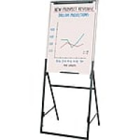 "Quartet® Futura™ Whiteboard Easel, 26"" x 35"", Adjustable/Collapsible, Black"
