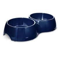 Bowlmates Navy Double Dog Bowl Base, 7 Cups