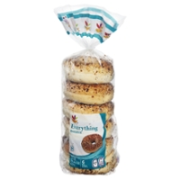Stop & Shop Bagels Everything Pre-Sliced - 6 ct