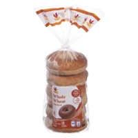 Stop & Shop Bagels Whole Wheat Pre-Sliced - 6 ct