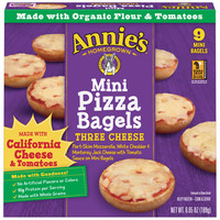 Annie's Homegrown Mini Pizza Bagels Three Cheese - 9 ct