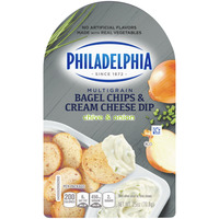 Philadelphia Bagel Chips & Cream Cheese Dip Chive & Onion