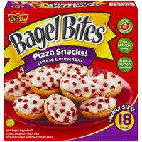 Bagel Bites Family Size Cheese & Pepperoni - 18 ct