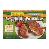 Golden Vegetable Pancakes All Natural - 8 ct Frozen