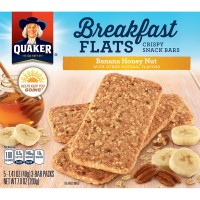 Quaker Breakfast Flats Crispy Snack Bars Banana Honey Nut - 5 ct