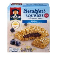 Quaker Breakfast Squares Soft Baked Bars Blueberry - 8 ct