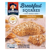 Quaker Breakfast Squares Peanut Butter Soft Baked Bars - 5 ct