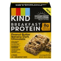 KIND Breakfast Protein Bars Peanut Butter Banana Dark Chocolate - 4 ct