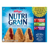 Kellogg's Nutri-Grain Soft Baked Breakfast Bars Variety Pack - 8 ct